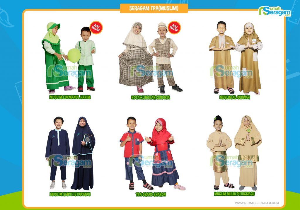 Baju Sekolah Anak Paud Muslim